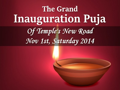 The Grand Inauguration Puja – Nov 1st