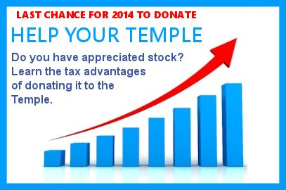 Donating Stock to the Temple is Smart and Easy