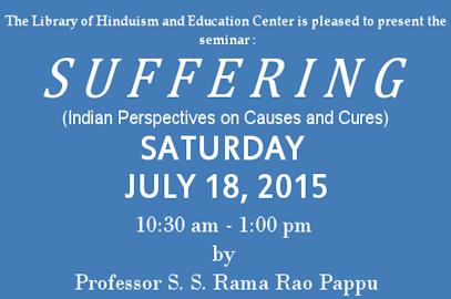 "Professor S.S. Rama Rao Pappu Seminar: ""Suffering"""