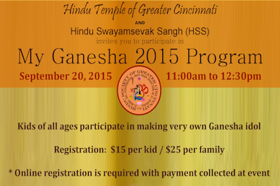 My Ganesha 2015 Program – Sept 20, 2015