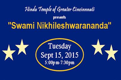 Swami Nikhileshwarananda – Sept 15, 2015