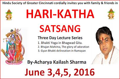 Hari-Katha Satsang – June 3,4,5, 2016