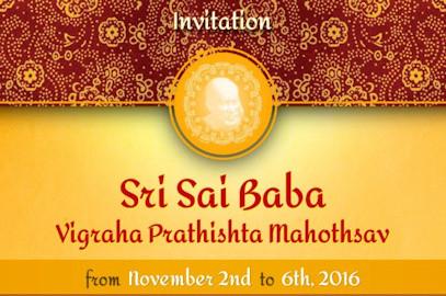 Sri Sai Baba Invitation – Nov 2th-6th