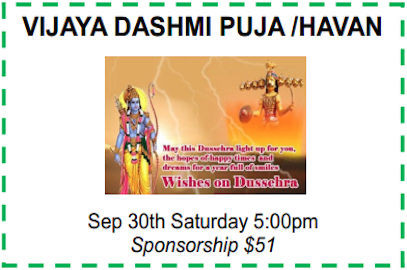 Vijaya Dashmi Puja / Havan – Sept 30, 2017