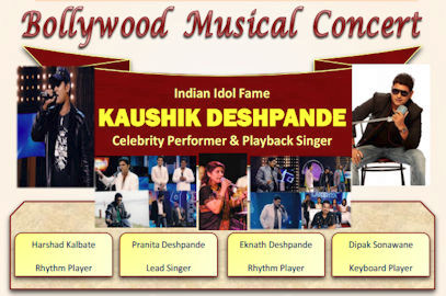 Kaushik Deshpande – Bollywood Musical Concert (March 17th)